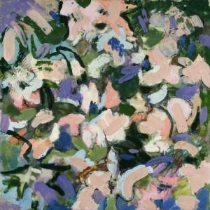 "Marilyn Banner, ""Lavender"", Encaustic on panel."