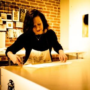 Jane Guthridge in studio