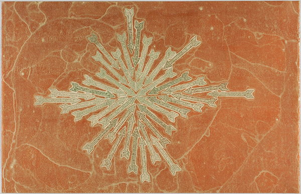 David A. Clark Ancient Histories #61 2014 Encaustic monoprint on Sakamoto heavyweight 25 x 38 1/2 inches