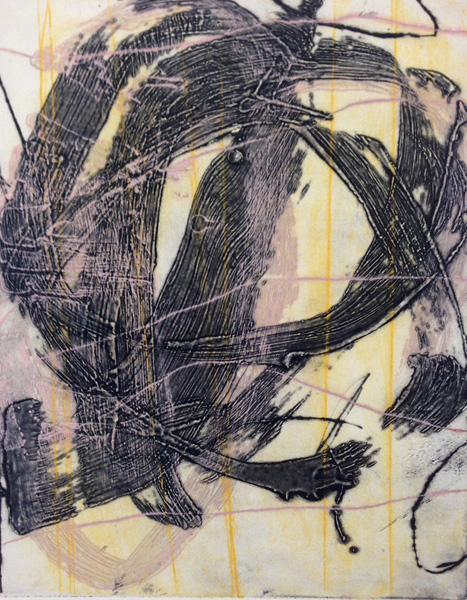 Jeffrey Hirst Circuit 2014 Encaustic collagraph on Rives BFK 20 x 15 inches