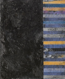 "Myriam F. Levy, Black Sun, 2011, encaustic on canvas, 24"" x 20"""