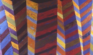 "Lynda Ray, Facing East, 2001, oil on canvas, 38"" x 64"""
