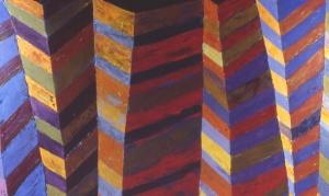 "Lynda Ray, Facing East, 2001, oil on canvas, 38"" x 64"""