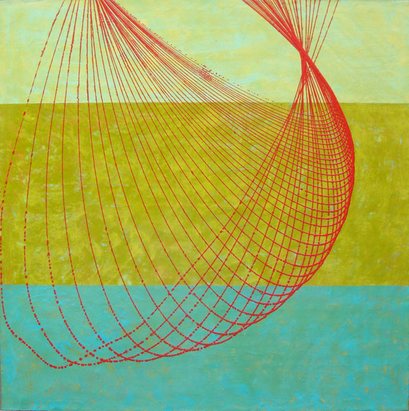 "Kim Bernard, Drishti, 2011, encaustic on panel, 48"" x 48"""