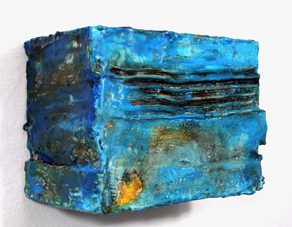 "Lynette Haggard, Rhythmo Box No. 2, 2010; resin, beeswax, pigment, foam, plaster, 10"" x 13"" x 9"""