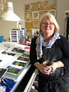 Pam Winegard in her Studio