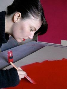 Artist Louise Blyton at Work