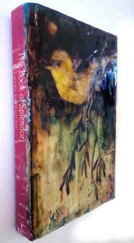Dan Addington, Book of Splendor, side view, mixed media on book, 8 x 6 inches
