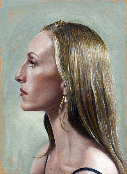 Kevin Frank, Wendy Whelan, 2000-07, encaustic on panel, 14 x11 inches