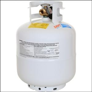 Large propane tank