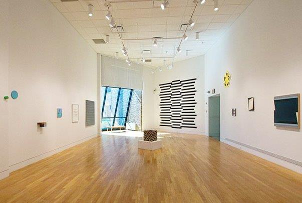 "Installation view of ""Doppler Shift"" at the Visual Art Center of New Jersey, curated by Mary Birmingham from a concept and early exhibition developed by artist Mel Prest. Photo: Guido Winkler"