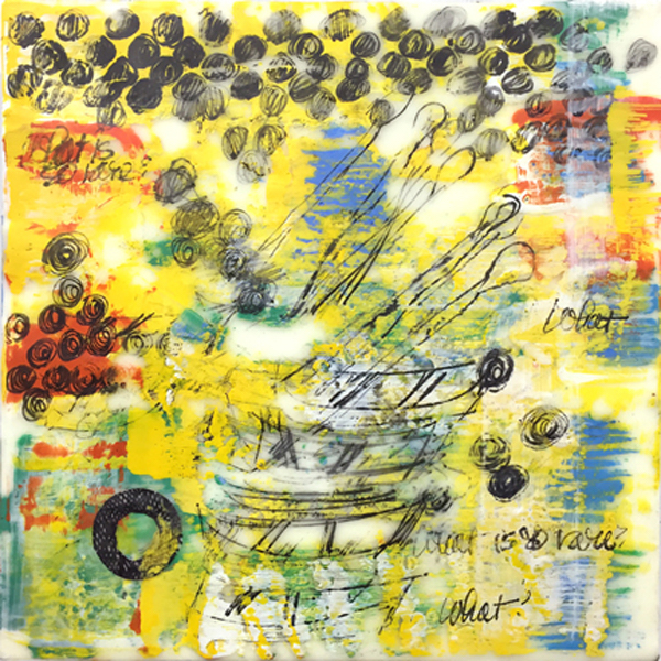 JSRoss_What_is_so_rare_Boats_and_Oars_2015_Encaustic_collage_carbon_on_panel_12x12_600