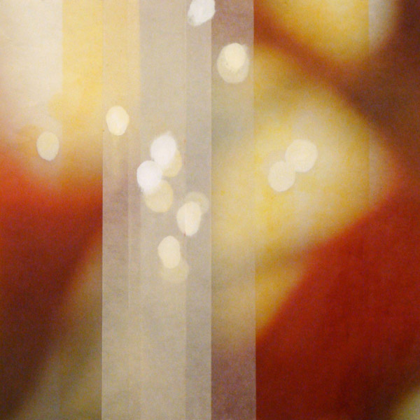 The Space Between 23, 2012, layered encaustic monotypes and archival inkjet on Asian paper, 19 x 19 inches