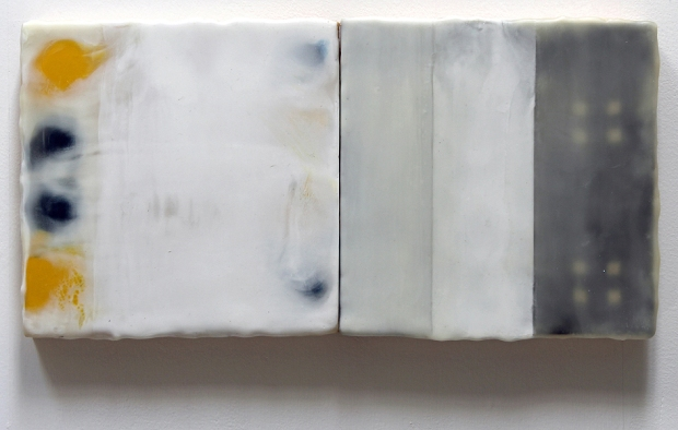Rinaldi_Paul, State, 2016, encaustic on panel (diptych), 8 x 16 inches