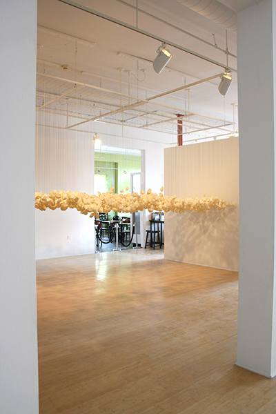 The Great Silence, Morean Art Center, St. Petersburg, Florida, 2012, 6 feet 2 inches x 16 feet 4 inches x 5 feet 8 inches, suspended 40 inches above the floor