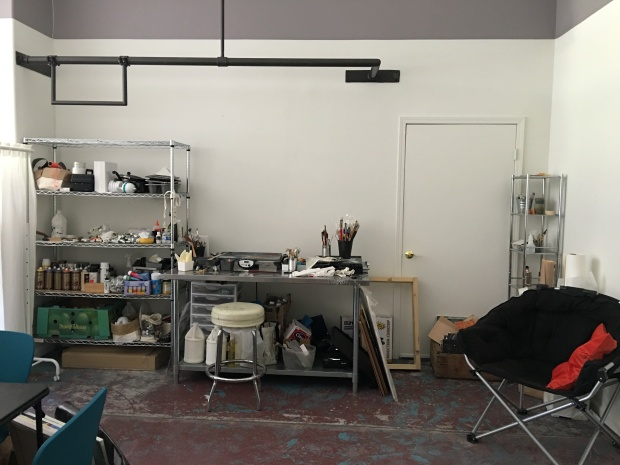 Behind the curtain: a space for my studio practice